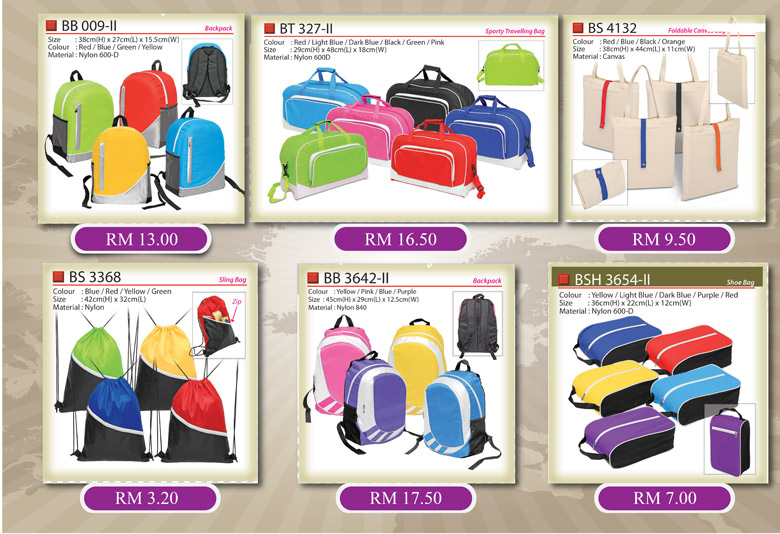 Bag promotional price