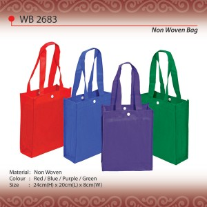 Non woven bag with button wb2683