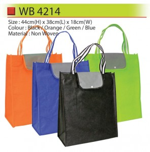 Non woven bag with button wb4214