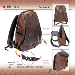 PU Leather Backpack BB1031