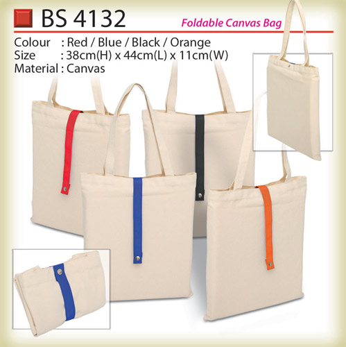 Foldable canvas bag BS4132
