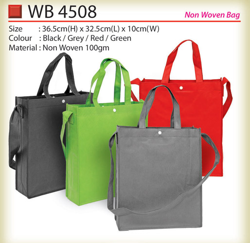 non woven bag with button  WB4508